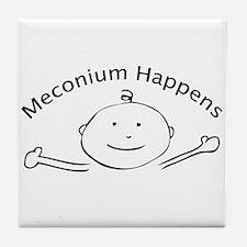 Meconium Happens tile coaster