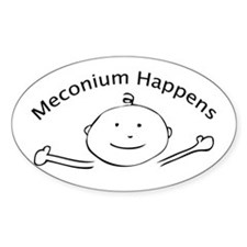 Meconium Happens Oval Decal