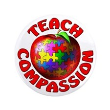 "Teach Compassion 3.5"" Button"