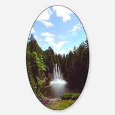 Butchart Quarry Fountain Oval Decal