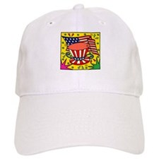 American Flag and Hat Baseball Cap