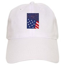 American Flag and Fireworks Baseball Cap