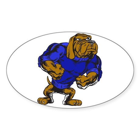 Hound Dog Strut Oval Sticker (50 pk)