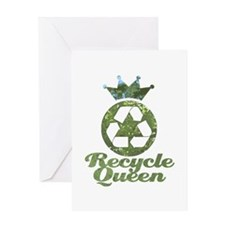 Recycle Queen Greeting Card