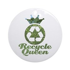 Recycle Queen Ornament (Round)