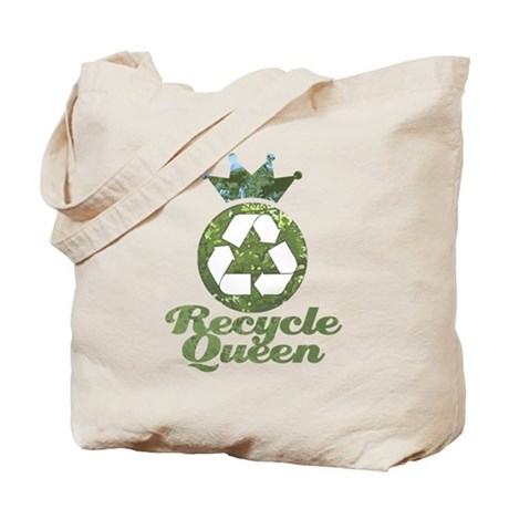 Recycle Queen Tote Bag