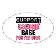 Support Second Base Oval Sticker (10 pk)