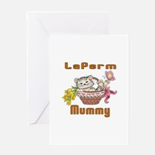 LaPerm Cats Mummy Greeting Card