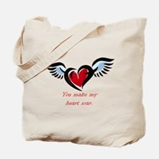 Cute Heart with wings Tote Bag