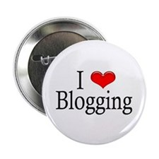 """I Heart Blogging 2.25"""" Button (10 pack)"""