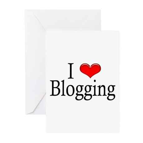 I Heart Blogging Greeting Cards (Pk of 10)