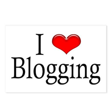 I Heart Blogging Postcards (Package of 8)