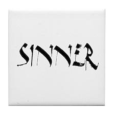 Sinner Tile Coaster