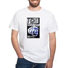 Fight Censorship Fist (Blue) Shirt