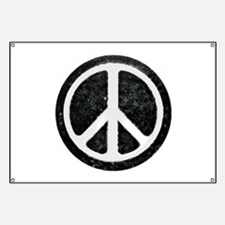 Original Vintage Peace Sign Banner