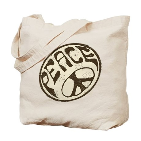 Retro Vintage Peace Sign Tote Bag