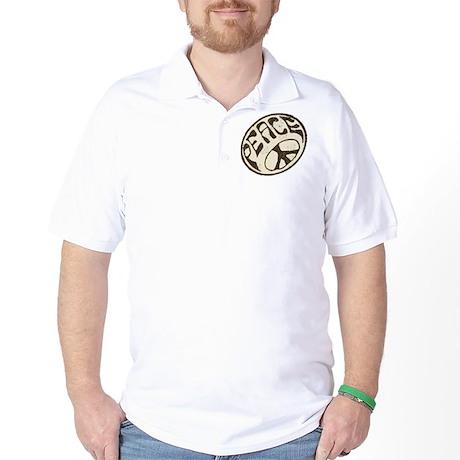 Retro Vintage Peace Sign Golf Shirt