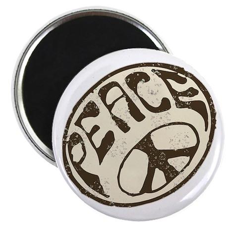 Retro Vintage Peace Sign Magnet