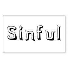 Sinful Rectangle Decal