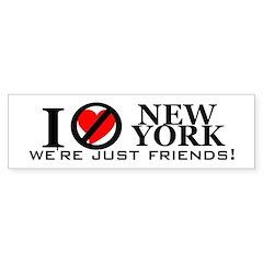 Parody, I Love NY Bumper Bumper Sticker