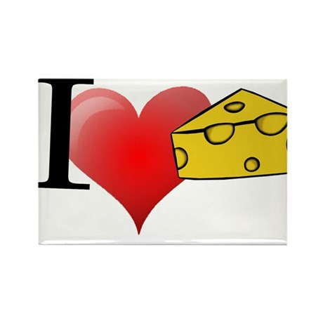 i love cheese Rectangle Magnet (100 pack)