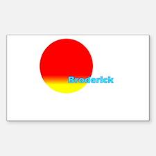 Broderick Rectangle Decal