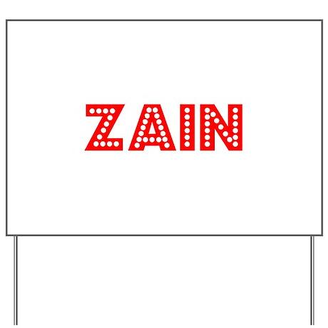 Retro Zain (Red) Yard Sign