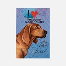 Redbone Coonhound Rectangle Magnet