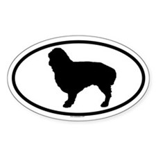 ENGLISH TOY DOG Oval Decal