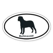 BULLMASTIFF Oval Decal