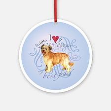 Pyrenean Shepherd Ornament (Round)