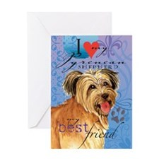 Pyrenean Shepherd Greeting Card