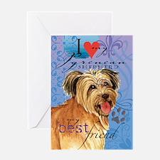Pyrenean Shepherd Greeting Card