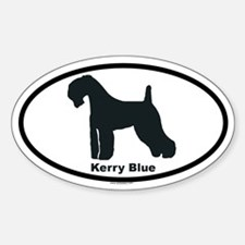 KERRY BLUE Oval Decal
