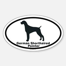 GERMAN SHORTHAIRED POINTER Oval Decal