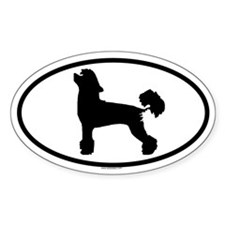 CHINESE CRESTED Oval Decal