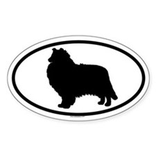 COLLIE-ROUGH Oval Decal