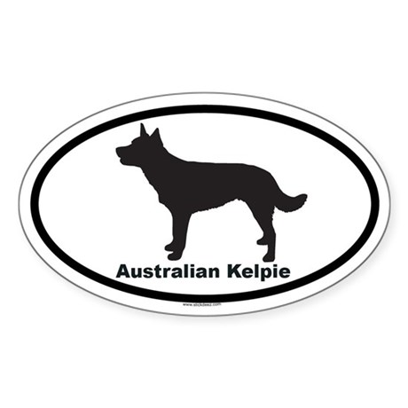 AUSTRALIAN KELPIE Oval Sticker
