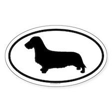 DACHSHUND WIREHAIR Oval Sticker (50 pk)