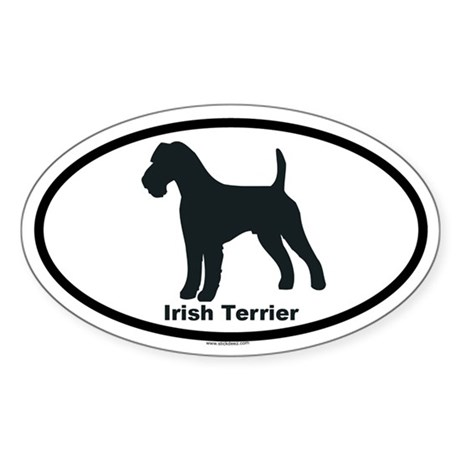 IRISH TERRIER Oval Sticker