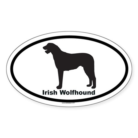 IRISH WOLFHOUND Oval Sticker