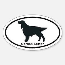 GORDON SETTER Oval Decal