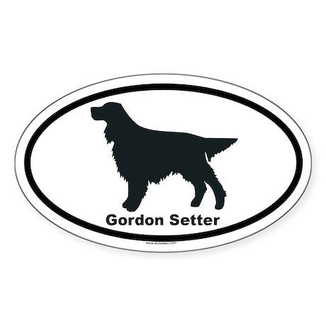 GORDON SETTER Oval Sticker