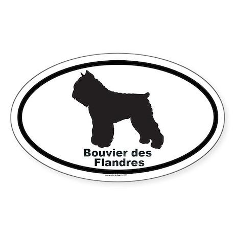 BOUVIER DES FLANDRES Oval Sticker