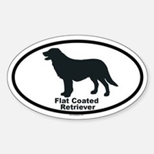 FLATCOATED RETRIEVER Oval Decal