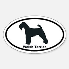 WELSH TERRIER Oval Decal