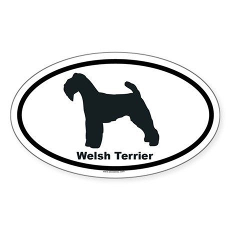 WELSH TERRIER Oval Sticker