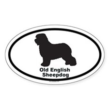 OLD ENGLISH SHEEPDOG Oval Sticker (10 pk)