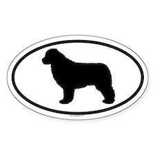 NEWFOUNDLAND Oval Sticker (10 pk)