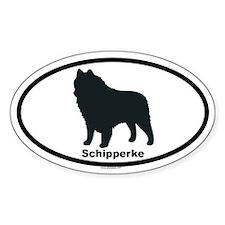 SCHIPPERKE Oval Decal
